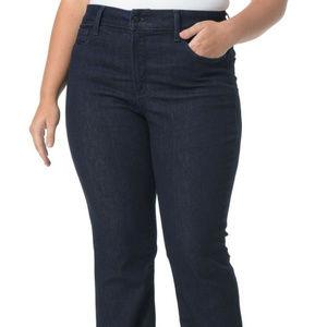 NYDJ Jeans Dark Blue Barbara Bootcut Size 22W